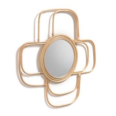 Espelho Meve, vime natural, Ø60cm