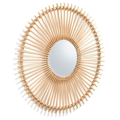 Espelho Liza, vime natural, Ø81cm