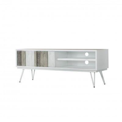 Móvel TV Nice, MDF lacado/madeira acácia, 55x150 cm