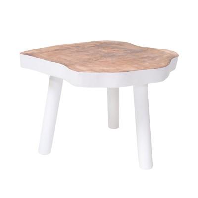 Mesa de apoio em madeira manga, Ø65x46 cm