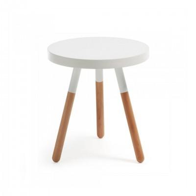 Mesa de apoio em madeira faia, Ø48 cm