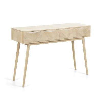 Consola em madeira de mangueira natural, 80x120 cm