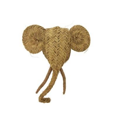 Cabeça de elefante em esparto