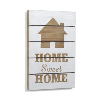 Quadro de parede Sweet Home, madeira, 60x40 cm