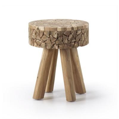 Mesa de apoio em madeira teca
