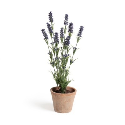 Planta artificial, c/vaso plástico, terracota, Ø18x47 cm