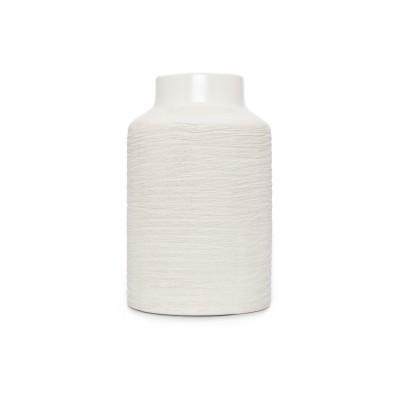 Jarra com texturas, branco, Ø14x24 cm