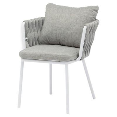 Cadeira Molti, alumínio/vime sintético, 62x61x85