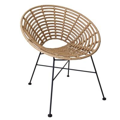 Cadeira oval, bambú sintético (polietileno)