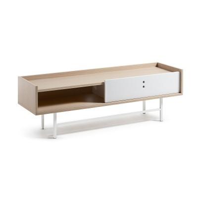 Móvel TV em madeira de carvalho, 140x45 cm