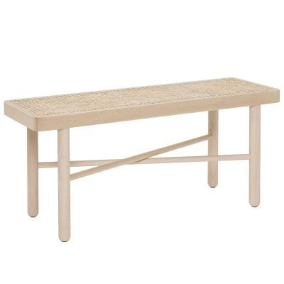 Mesa de apoio Luna em madeira faia, 30x100 cm