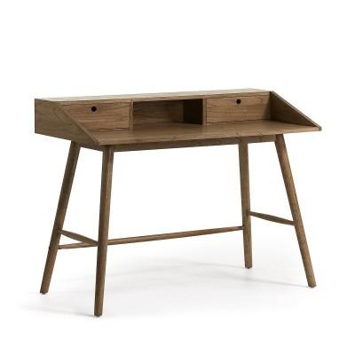 Secretária em madeira Mindi natural, 90x120 cm