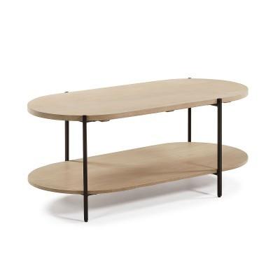 Mesa de centro Palma, madeira de manga natural, 45x110 cm