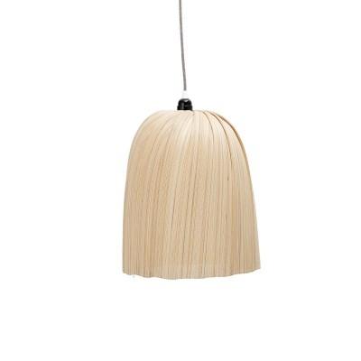 Candeeiro de tecto, bambú natural, Ø32x42 cm
