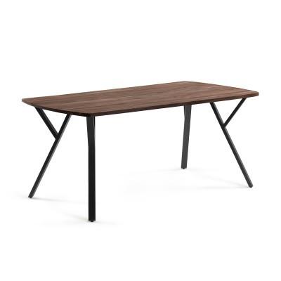 Mesa de jantar Babel, madeira de acácia/mogno, 95x200 cm