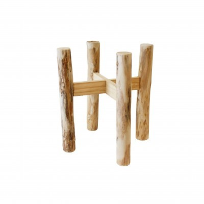 Suporte em madeira eucalipto p/vasos, Ø29 cm