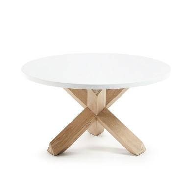 Mesa de centro em madeira de carvalho/MDF lacado, Ø65x45 cm