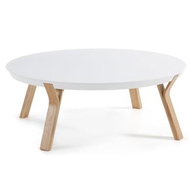 Mesa de centro em madeira de freixo/MDF lacado, Ø90x32 cm