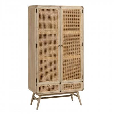 Aparador Kalú, madeira de mindi/rattan, 90x40x175