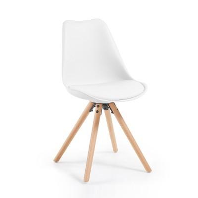 Cadeira Lara, c/assento acolchoado, madeira faia