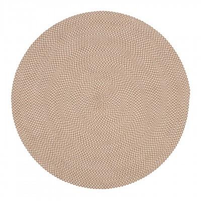Tapete Rod, anti-alérgico, PET reciclado, branco/bege, Ø150 cm