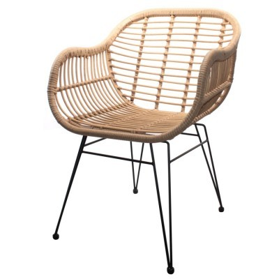 Cadeira Brand, vime sintético, 58x63x82