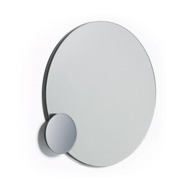 Espelho Onmy, metal, cinza, Ø38 cm