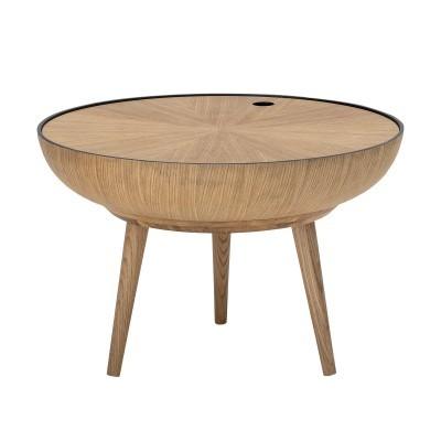 Mesa de centro Ronda, madeira de carvalho natural, Ø60x40 cm