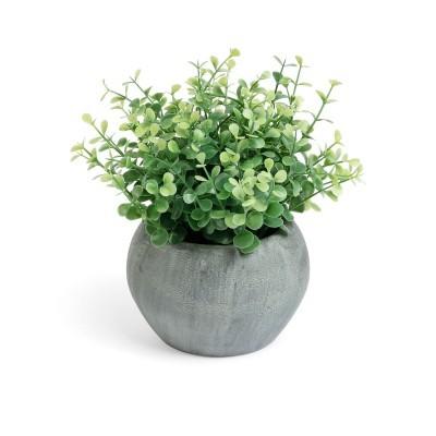 Planta artificial, c/vaso em papel machê, Ø20x20 cm