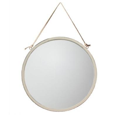 Espelho redondo, branco, Ø46 cm