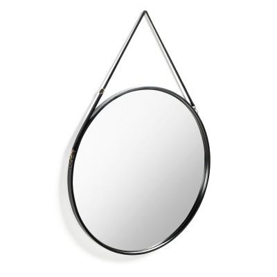 Espelho Rainn, metal, preto, Ø80 cm