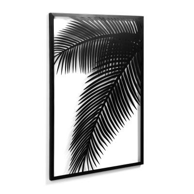 Quadro de parede Denia, metal, preto, 74x100 cm
