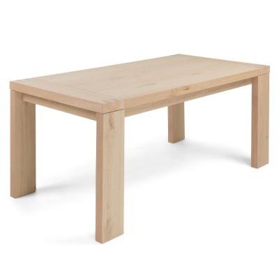 Mesa extensível em madeira de carvalho, 180(270)X90 cm