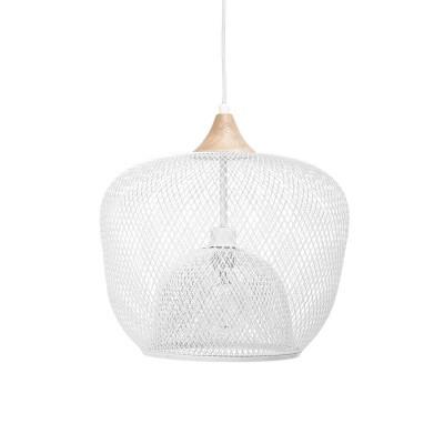 Candeeiro de tecto, metal, branco, Ø40x30 cm