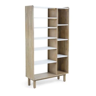 Estante Saza, madeira de acácia/MDF lacado, 100x180 cm