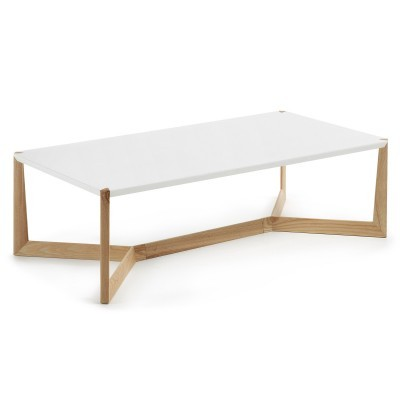 Mesa de centro Quato, madeira de freixo/MDF lacado, 120x60 cm