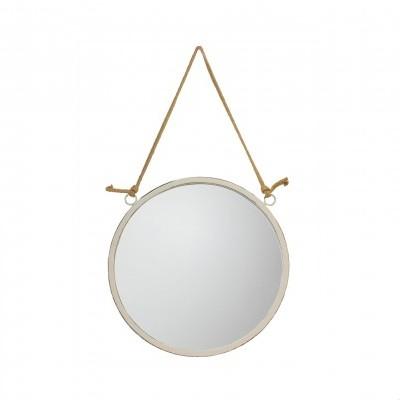 Espelho redondo, branco, Ø36cm