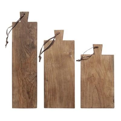 Tábuas de cozinha em madeira teca, (Conj.3)