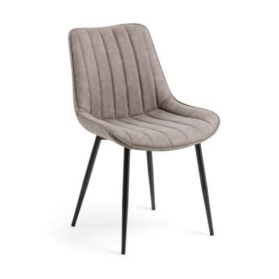Cadeira Janise, estofada em pele sintética, 53x60x82