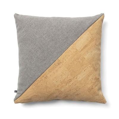 Capa de almofada em algodão/cortiça, 45x45 cm