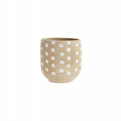 Vaso Dot em cerâmica terracota
