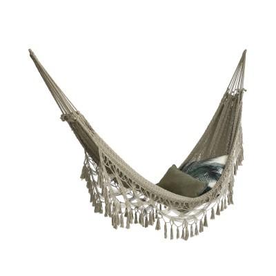 Cama de rede boémia em algodão