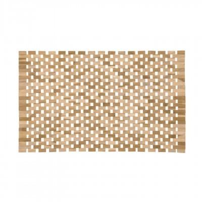 Tapete p/casa de banho, madeira teca, 40x60 cm