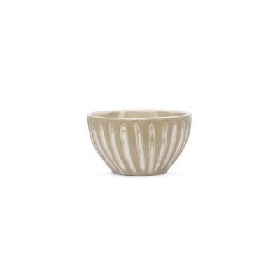 Tigela de barro nude com vidrado brilhante, Ø14x7,5 cm
