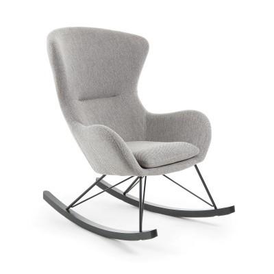 Cadeira de baloiço Vaná, estofado, cinza, 74x106x98
