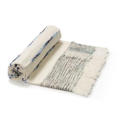 Manta Izel, c/franjas, algodão, 130x170 cm