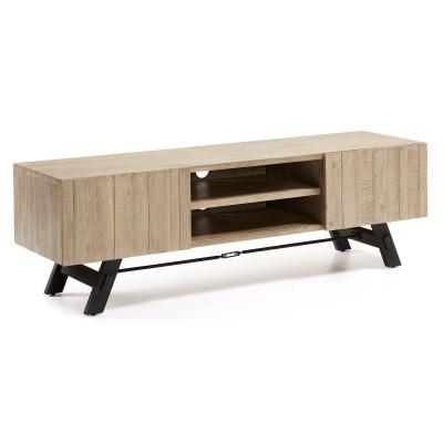 Móvel de TV em madeira de acácia natural, 50x160 cm