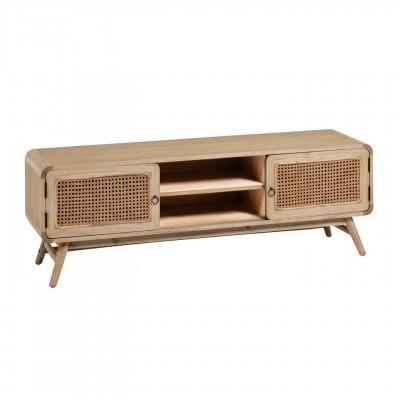 Móvel de TV Kalú, madeira de mindi/rattan, 50x150 cm