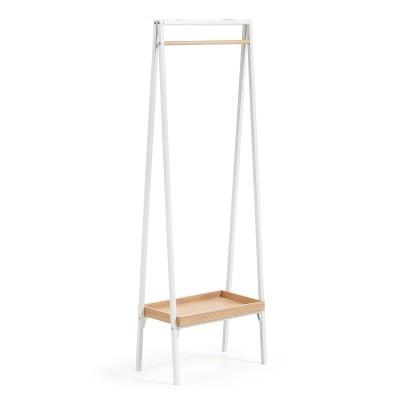 Porta cabides em metal/madeira, 55x160 cm