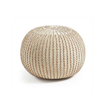 Puff em malha de algodão tricotada